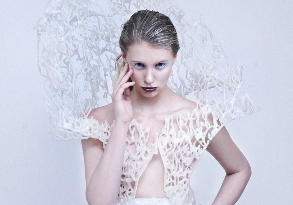 Váy thời trang được làm từ máy in 3d.