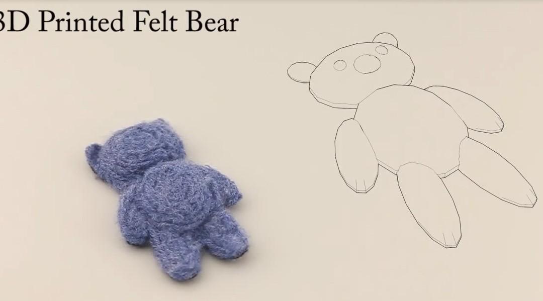 Gấu bông được làm từ máy in 3d.